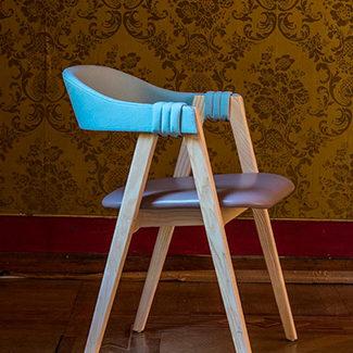 Claude Cartier décoration et architecte d'intérieur à Lyon. Chaise Mathilda MOROSO