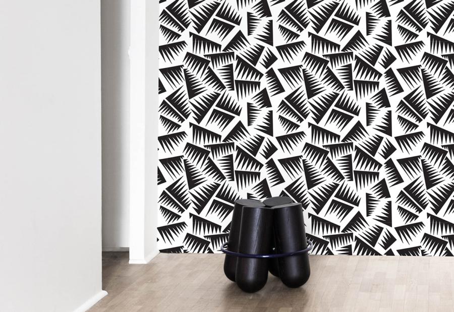 papier peint papier peint la chance collections claude. Black Bedroom Furniture Sets. Home Design Ideas