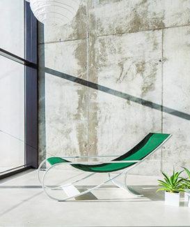 Chaise longue Versant Edition. Claude Cartier décoration architecte d'intérieur à Lyon.