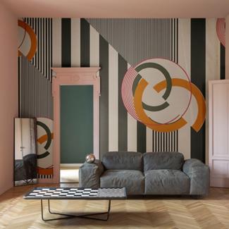 Papier peint Wall Deco - Claude Cartier décoration architecte d'intérieur à Lyon.