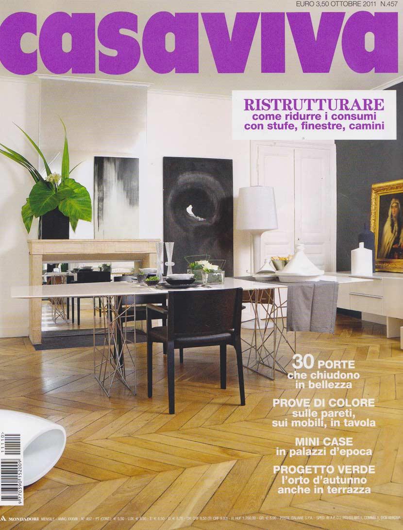 Parution presse CASAVIVA 2011 Claude Cartier décoration architecte d'intérieur à Lyon.