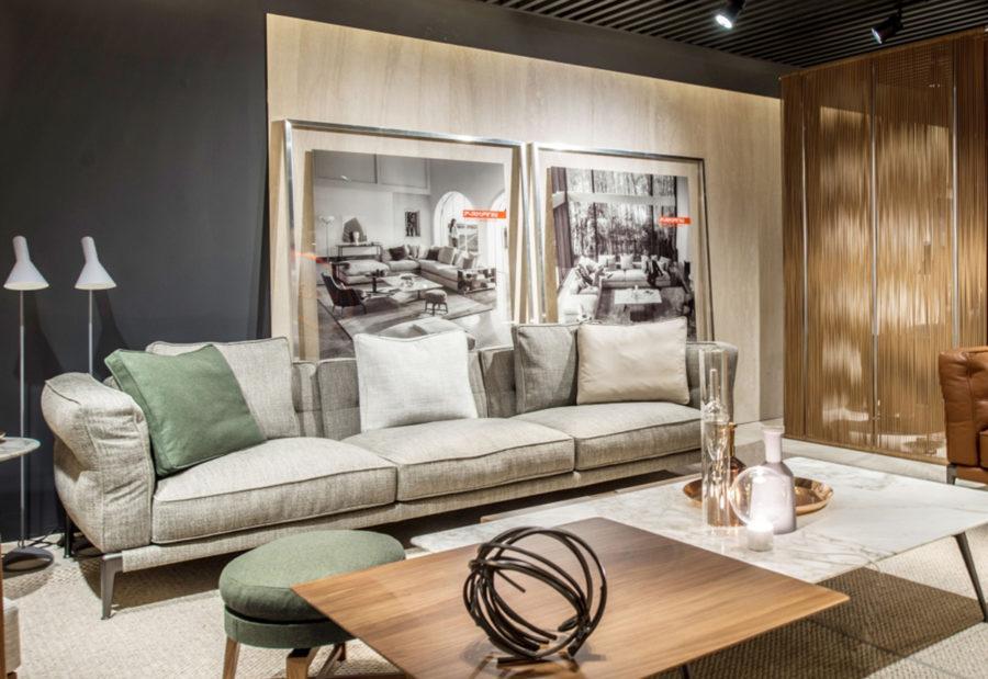 Claude Cartier décoration architecte d'intérieur Lyon, canapé Adda de la marque Flexform