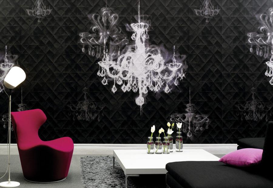 Claude Cartier décoration et architecte d'intérieur à Lyon. Papier peint Chance de la marque Elitis