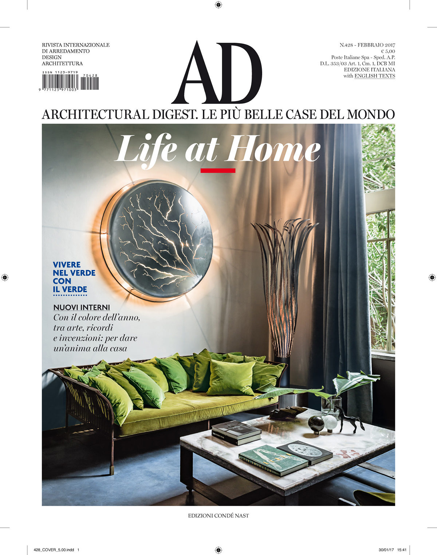 Parution presse AD ITALIA 2017 Claude Cartier décoration architecte d'intérieur à Lyon.