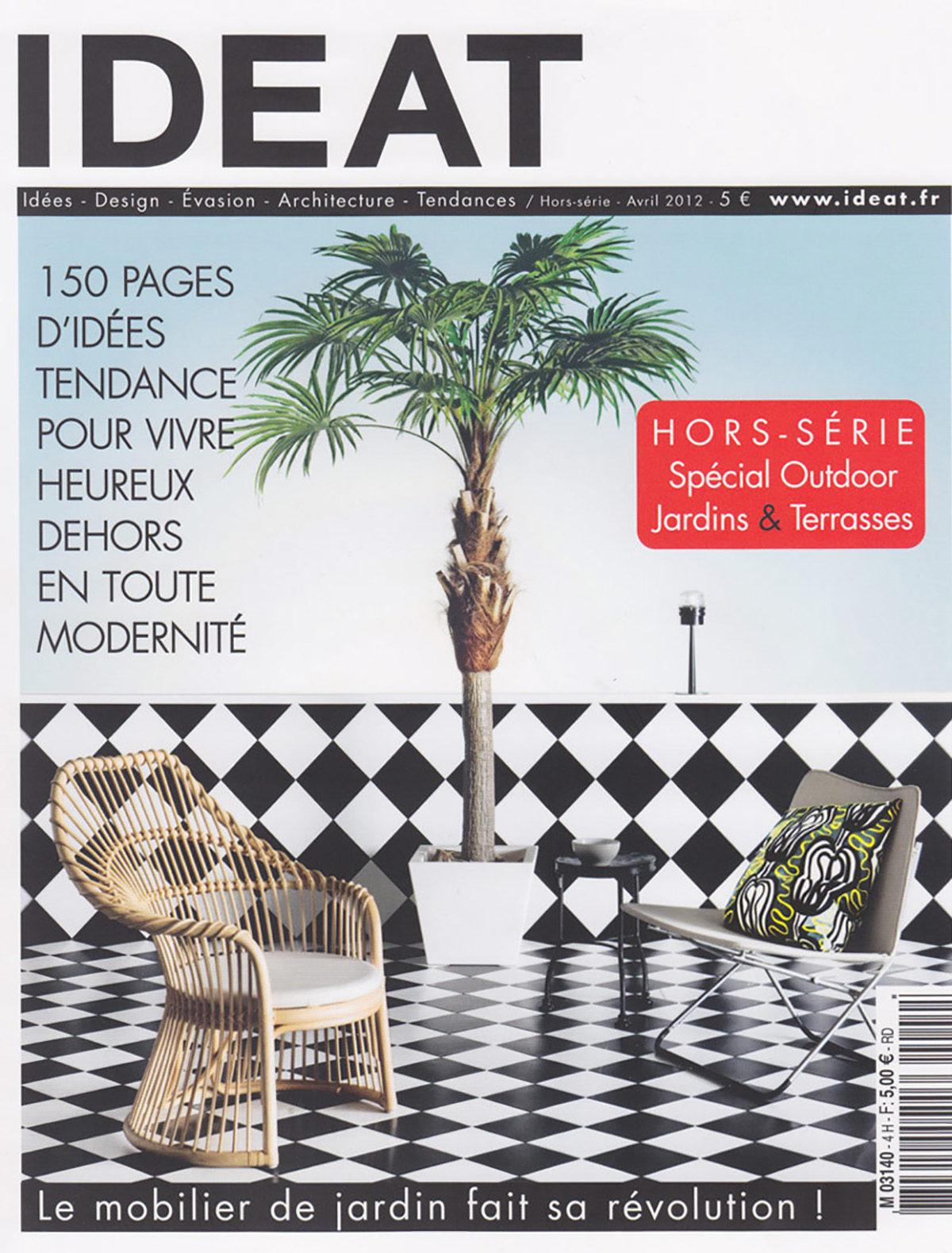 Parution presse IDEAT 2012 Claude Cartier décoration architecte d'intérieur à Lyon.