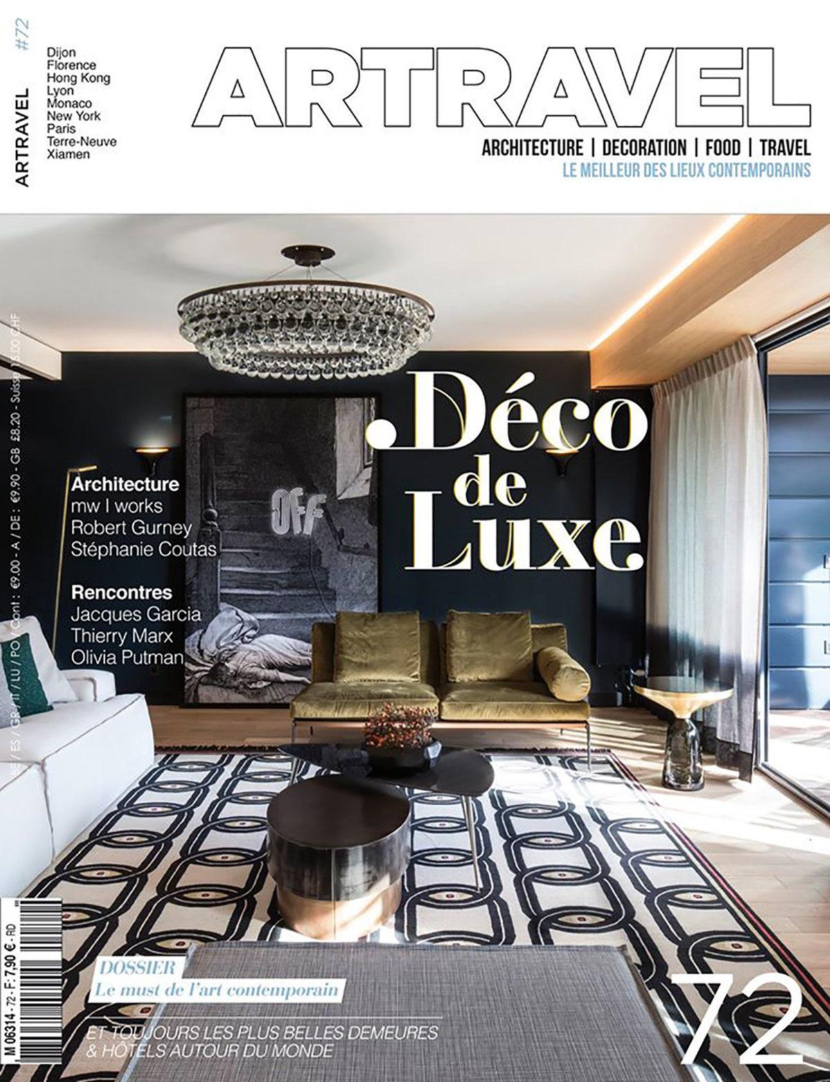 Parution presse ART TRAVEL 2016 Claude Cartier décoration architecte d'intérieur à Lyon.