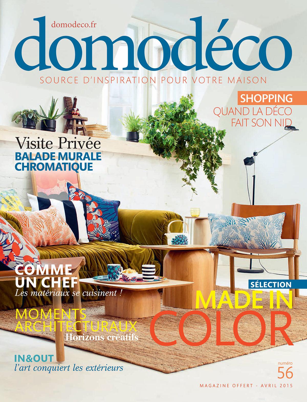 Parution presse DOMODECO 2015 Claude Cartier décoration architecte d'intérieur à Lyon.