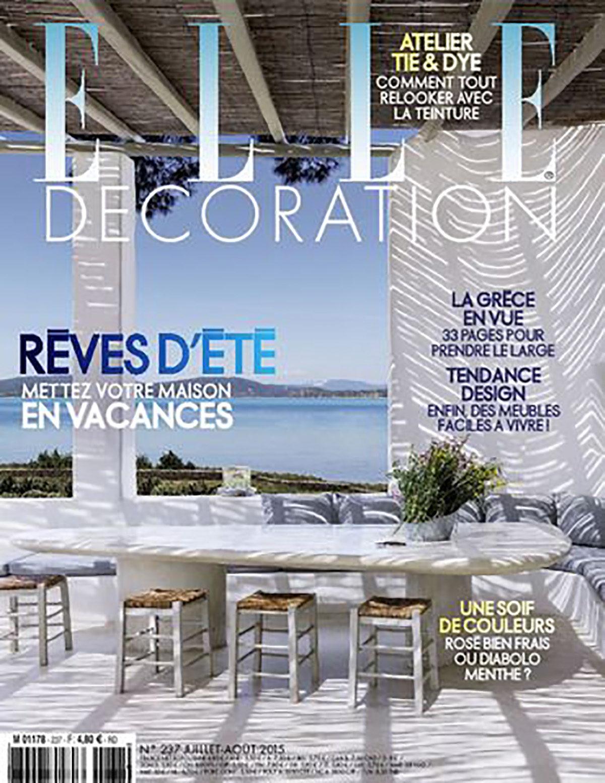 Parution presse ELLE DÉCORATION 2015 Claude Cartier décoration architecte d'intérieur à Lyon.