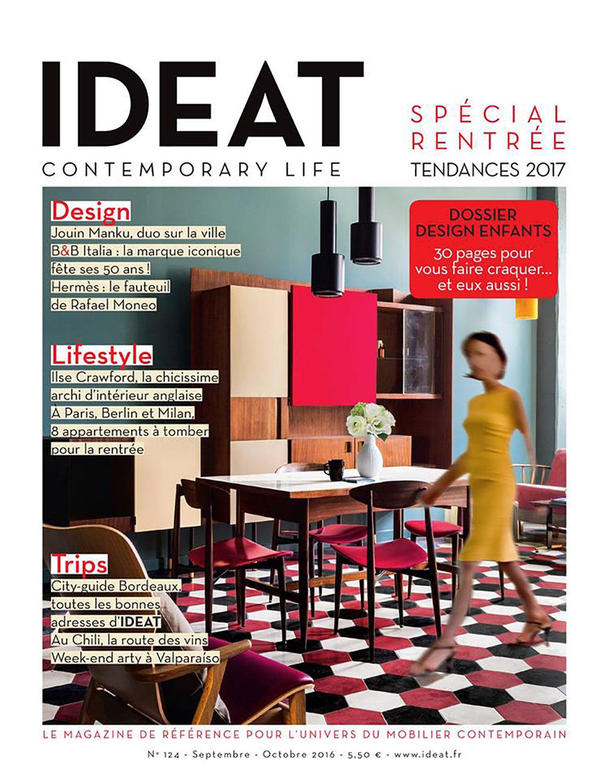 Parution presse IDEAT 2016 Claude Cartier décoration architecte d'intérieur à Lyon.