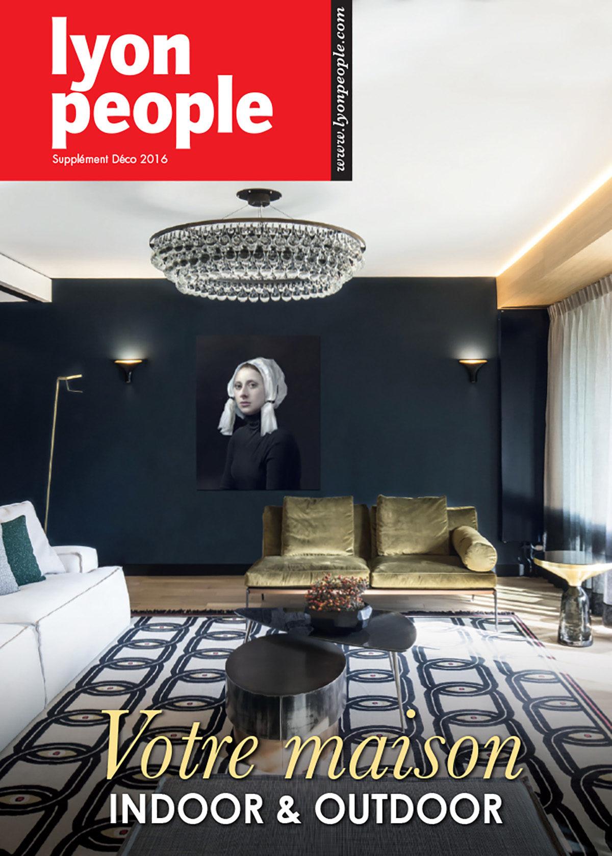 Parution presse LYON PEOPLE 2016 Claude Cartier décoration architecte d'intérieur à Lyon.