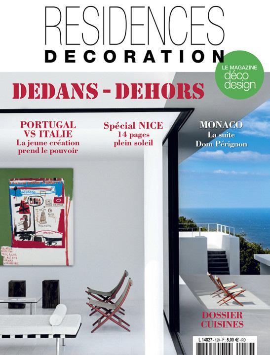 Parution presse RESIDENCES DECORATION 2016 Claude Cartier décoration architecte d'intérieur à Lyon.