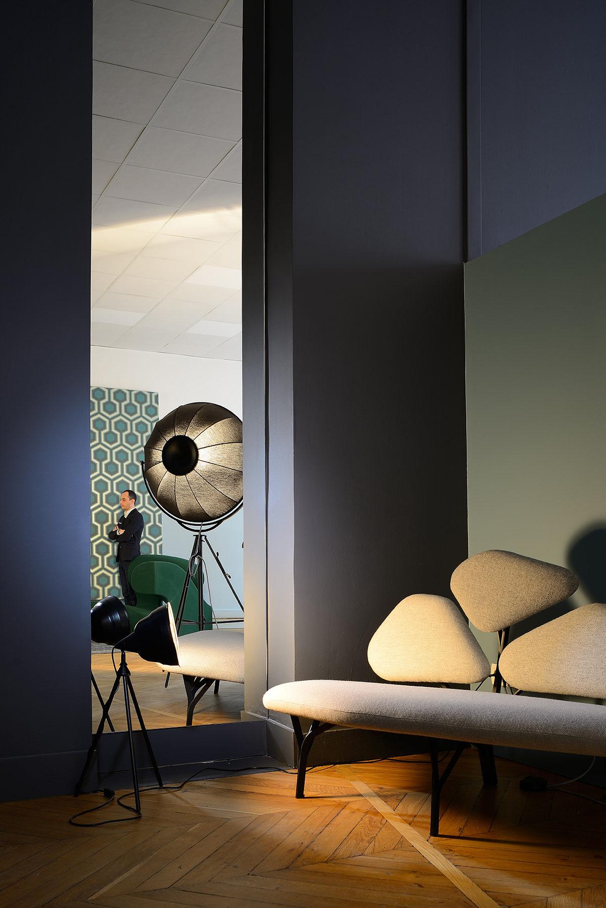 Réalisation bureau. Claude Cartier décoration architecte d'intérieur à Lyon.
