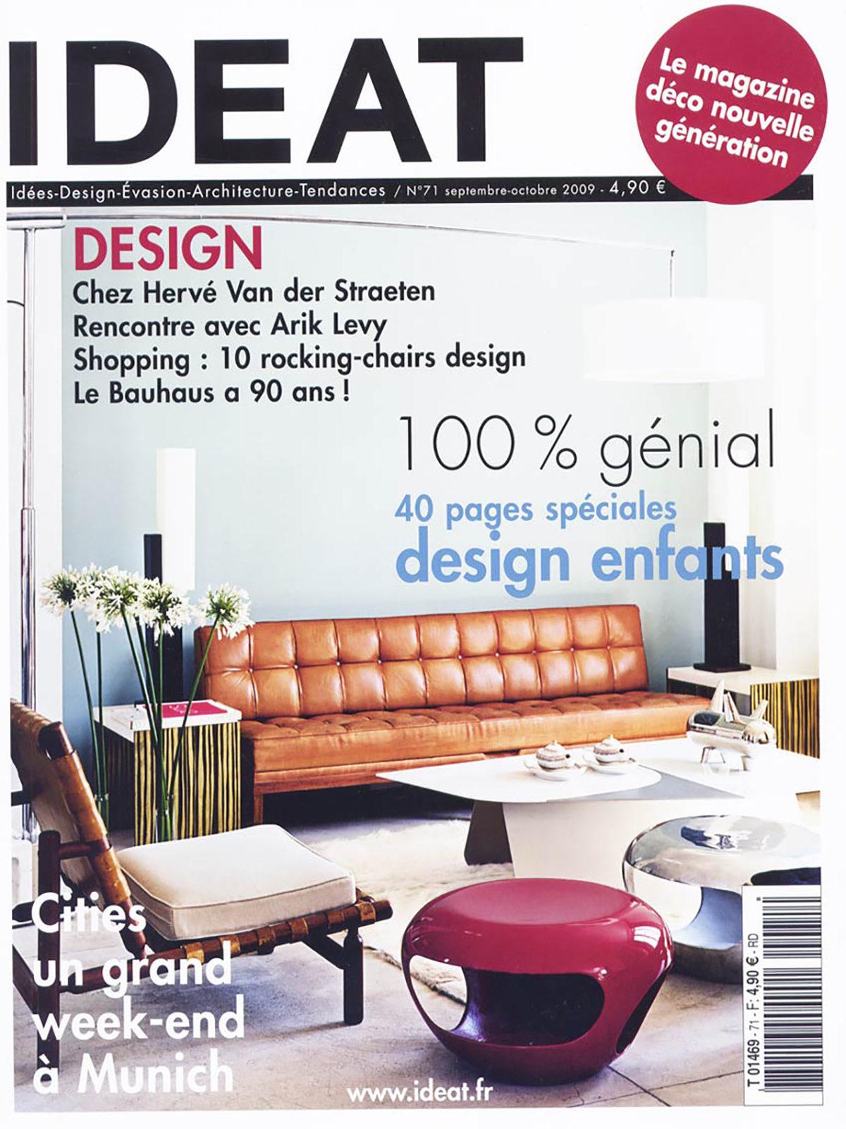 Parution presse IDEAT 2009 Claude Cartier décoration architecte d'intérieur à Lyon.