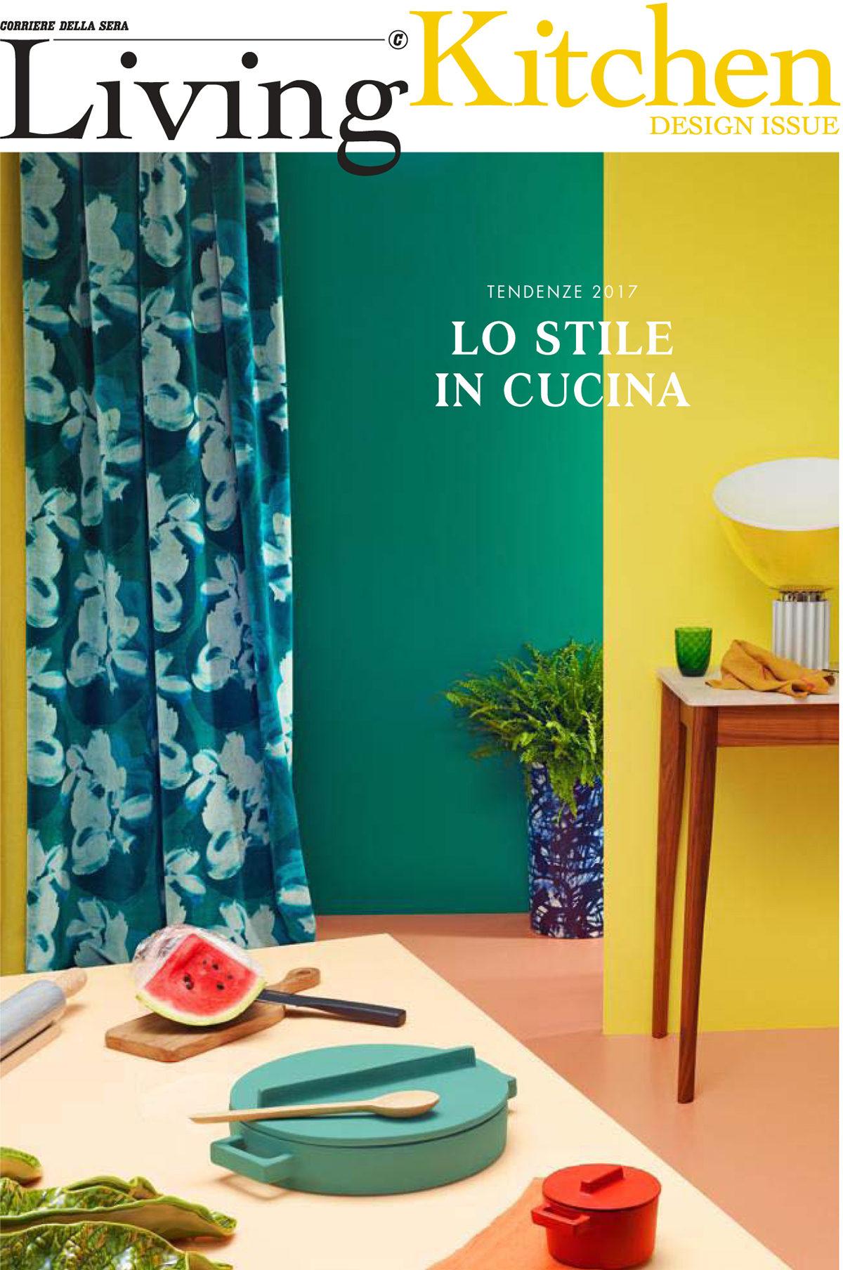 Parution presse Living Corriere della Sera 2017 Claude Cartier décoration architecte d'intérieur à Lyon.