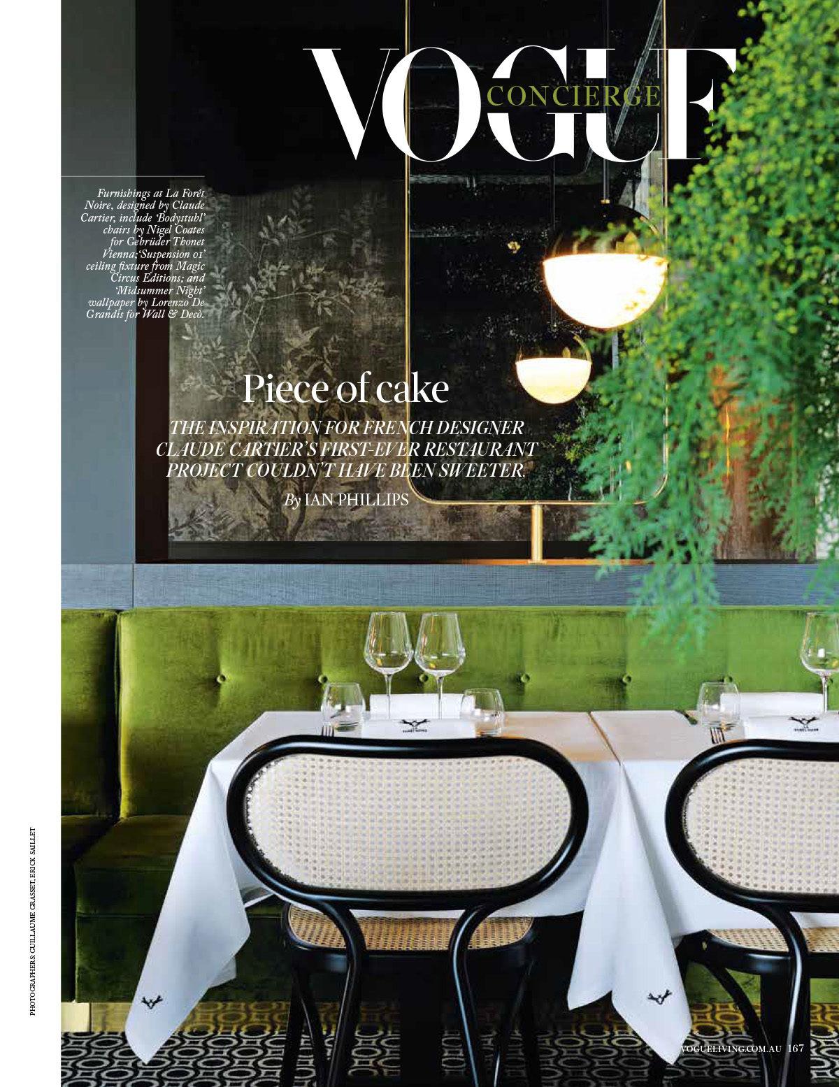 Parution presse VOGUE 2017 Claude Cartier décoration architecte d'intérieur à Lyon.