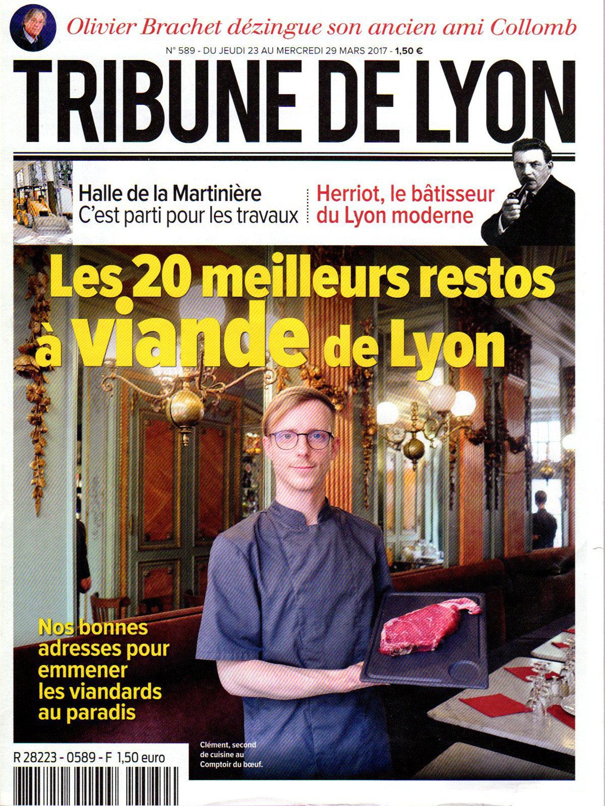 Parution presse Tribune de Lyon 2017 Claude Cartier décoration architecte d'intérieur à Lyon.