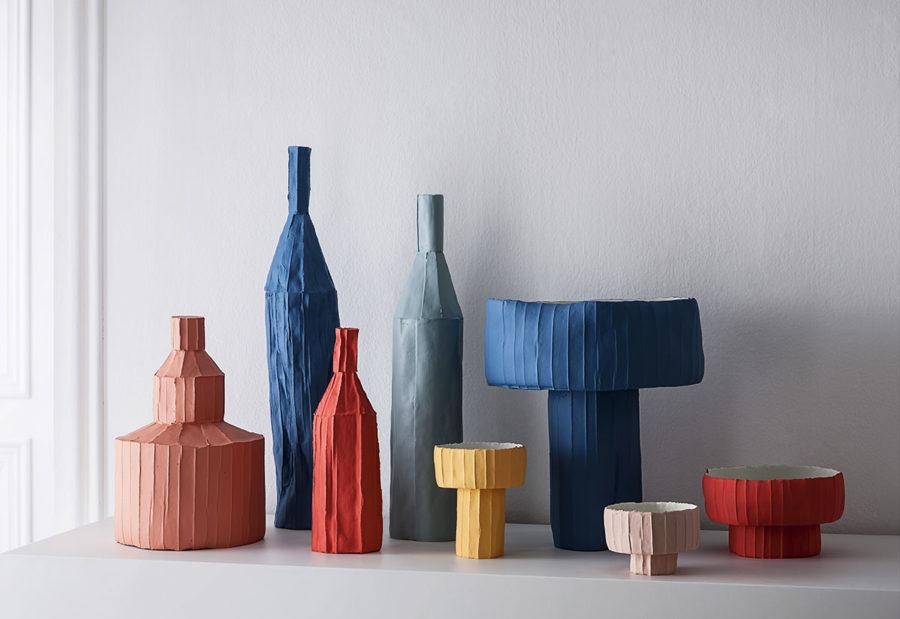 Collection objets et accessoires PAPER CLAY de la marque Paronetto, chez Claude Cartier Décoration Lyon