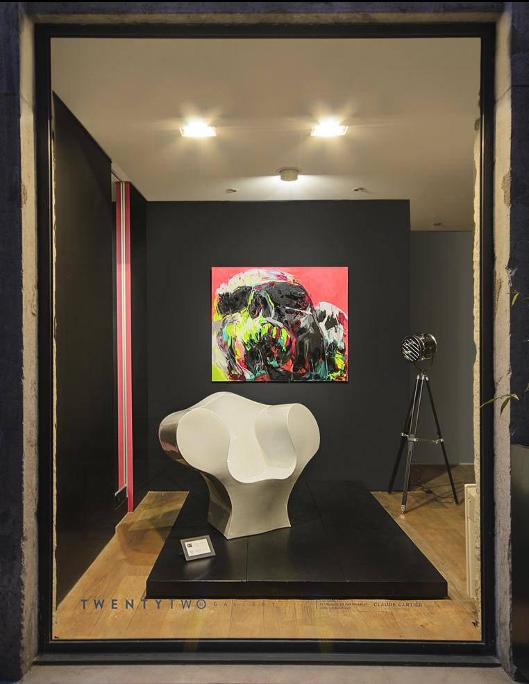 L'Écrin, Galerie Twenty Two. Actualité Claude Cartier décoration architecte d'intérieur à Lyon.
